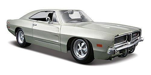 maisto-31256bl-vehicule-miniature-modele-a-lechelle-dodge-challenger-r-t-1969-echelle-1-24-coloris-a