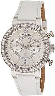 Swarovski Citra Sphere Chrono Women's White Dial Leather Band Watch - 502