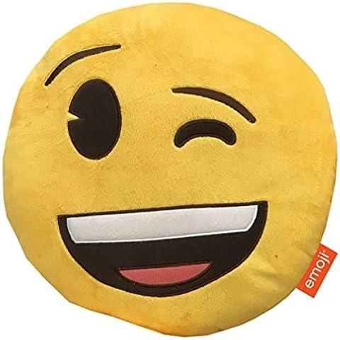 Emoji Winking-Cuscino in peluche, (Miller Cuscino Decorativo)