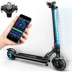 Nouveauté 2019 ! Trottinette électrique IX300 de Bluewheel avec appli Smartphone & LED Multicolore & écran LCD, Batterie Li-ION jusqu'à 20 km*, Pliable, Bluetooth, e-Scooter pour Adultes et Enfants