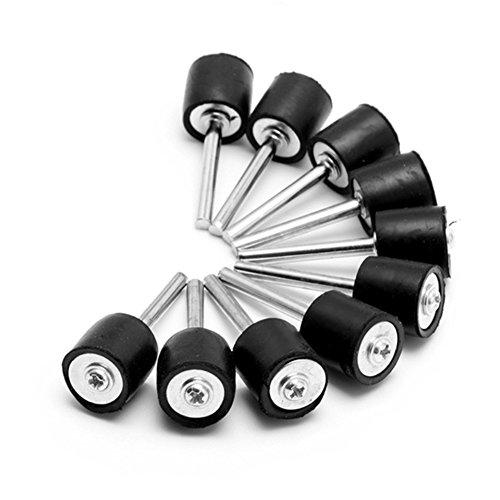 10 mandriles de goma para tambor, mandril de goma de 3,15 mm para lijado de la funda para herramienta giratoria