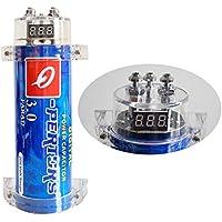 Tellunow Condensador de Coche 3 Farad para Almacenamiento de energía para Mejorar la Demanda de bajo del Sistema de Audio (E201)