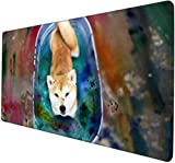 tappetino mouse 900x400 Shiba Inu giapponese Akita carino fedele cane animale da compagnia Tappetino per mouse moda simpatico cartone animato tappetino mouse grande tappetino mouse xxl tappetino