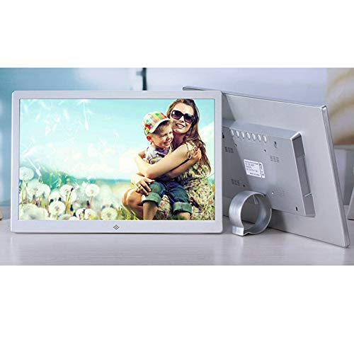 TONGTONG 15 Zoll 1280 * 800 HD Touch Screen Digital Photo Frame Alarm Clock Movie Player,Silver (Frame Touch-screen Photo Digital)