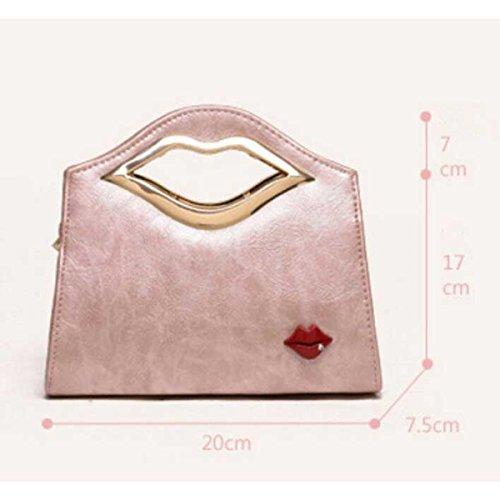 Frauen Schultertasche Messenger Bag Casual Mini Handtasche Pink