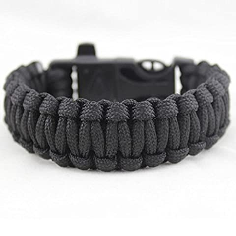 Yogogo - Corde de sauvetage - Popular Flint Fire - Évasion Bracelet - Survival Outdoor Gear 4 en 1