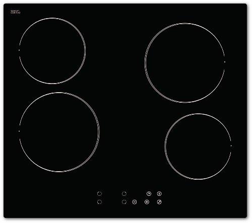Bomann EBK 956 Kochfeld Einbau / Glaskeramik / 59.0 cm / Elektronische Steuerung Touch Control / schwarz