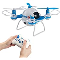 TechRC Mini Bee RC Quadcopter Drone,2.4GHz RC Micro Helicopter with 3D Flip Headless Mode 2MP HD Camera-Blue - Design System Fly Box