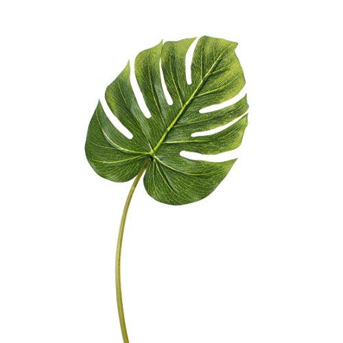 artplants – Künstliches Philodendron Monstera Deliciosa Blatt Miko, 80 cm, Ø 22 cm – Deko Philo Blatt/Kunstblatt