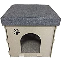 Blue Bridge Casa de Perro, Casa de Madera para Mascotas Four Seasons Cat Litter Cat