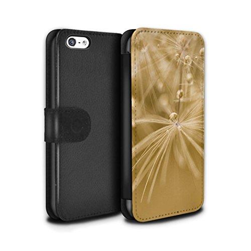 Stuff4 Coque/Etui/Housse Cuir PU Case/Cover pour Apple iPhone 5C / Fleur Vert Design / Gouttes de Fées Collection Fleur Jaune