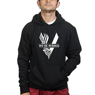 Customised Perfection VikingsWe'reHiringHoodieBLK3XL XXXL Black