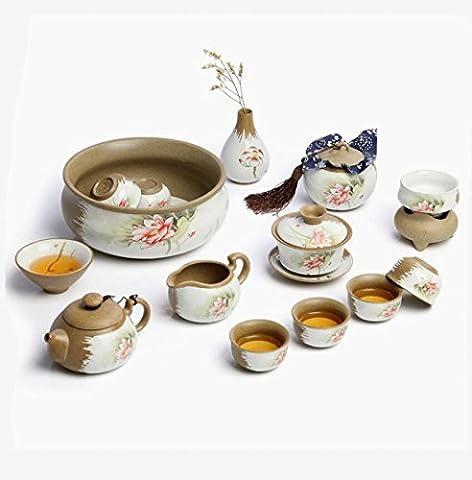 Tee-Set passt hochwertige grobe Keramik Hause Kung Fu Tee Set