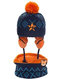Amorar Cappelli per Bambini Sciarpe Set Baby Berretto in Maglia Invernale  Cappello Beanie Carino Cappello con e90d6478f468