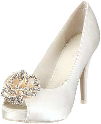 Menbur Wedding Flor 04346 - Zapatos de novia de tela para mujer