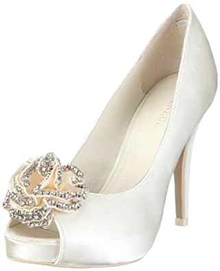 menbur wedding flor 04346 damen brautschuhe pumps elfenbein ivory 04 eu 41. Black Bedroom Furniture Sets. Home Design Ideas