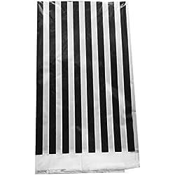 BESTOMZ Manteles de impresión de rayas de plástico Cubiertas de mesa de picnic (blanco y negro)