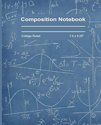 Composition Notebook: College Ruled Blank Writing Pad Notebook Journal Back to School Supplies Diary for Girls Boys Kids Students Teachers Teens Cute Blue Writing Board Pattern