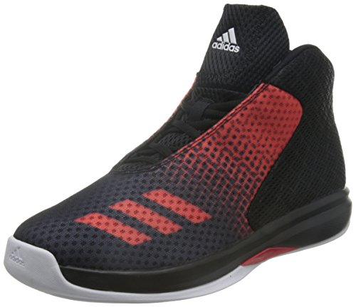 adidas Herren Court Fury 2016 Basketball Turnschuhe, Black (Negbas / Rojray / Ftwbla), 42 2/3 EU