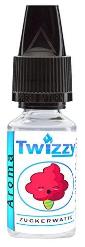 10ml Twizzy Zuckerwatte Lebensmittel-Aroma | Für Shakes, Backen, Cocktails, Eis | Für Dampf Liquid und E-Shishas | Flav Drops | Ohne Nikotin 0,0mg