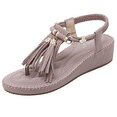 LvYuan Sandali-Ufficio e lavoro Formale Casual-Comoda Club Shoes-Zeppa-Microfibra-Tessuto almond Viola chiaro light purple