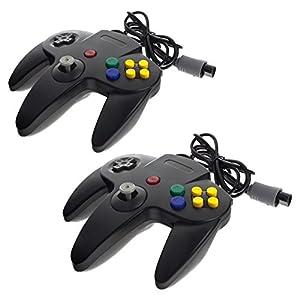 2x Smartfox Controller Gamepad Joypad Joystick für Nintendo 64 N64 in schwarz