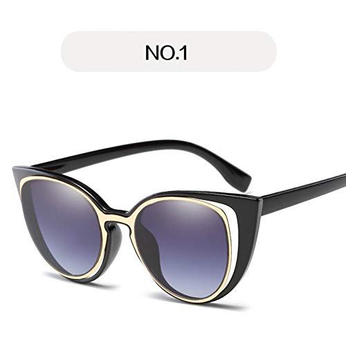 JIGHB Sonnenbrille weiblich Cat Eye Sunglasses Women Oversized Retro Sun Glasses Female Uv400 Goggles