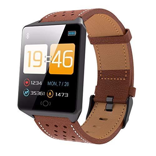 LRWEY Fitness Armband mit Pulsmesser, IP67 Wasserdicht Sport Fitness Aktivität Herzfrequenz Tracker Blutdruckmessgerät Kalorien Smart Watch, für iOS Android