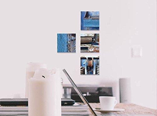 Fotokunst auf Alu-Dibond Butlerfinish® - 4x 10 x 10 cm - Aluminium mit gebürstetem Oberflächenschliff Bild Kunst Büro Geschenk Bad Balkon Terasse Küche -