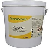 Chemdiscount 5kg Kupfersulfat Kupfervitriol CuSO4 Blaustein, im stabilen Eimer