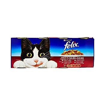 Felix Émincés en gelée Repas pour chat adulte Viandes & Poissons 4 x 400 g