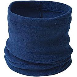 ANSUG Calentador de Cuello Unisex Polar Fleece Neck Scarf Multi Use Neck Scarf, pasamontañas, Gorro de béisbol para Ciclismo, esquí, Senderismo-Navy