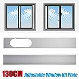 EDQZ Klimaanlage Fensterabdichtung Kit, 2stk 1,3m Verstellbare Fenster Kit Platte Zubehör für Mobil Klimaanlage - Weiß
