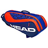 HEAD Tête Kids 'Junior Combi Rebel Sac de Raquette de Tennis, Bleu/Orange, Taille Unique