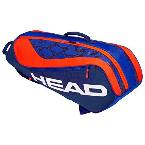 HEAD Kids Junior Combi Rebel Tennisschlägertasche, Blau/Orange, Einheitsgröße