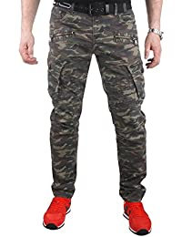 Cipo & Baxx Herren Cargo Hose Militär Camouflage CD336