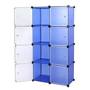 Songmics Armoire Penderie cubes etagère modulables plastiques cadre