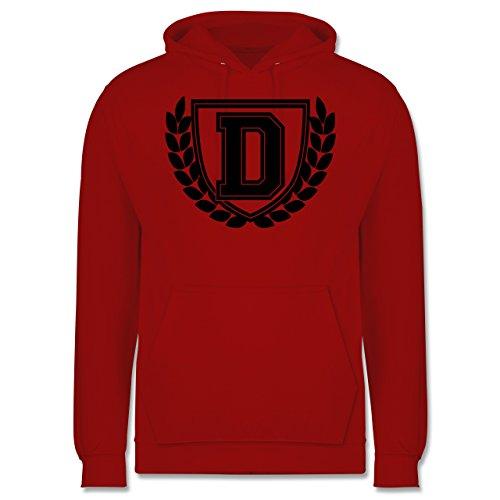 Anfangsbuchstaben - D Collegestyle - Herren Hoodie Rot
