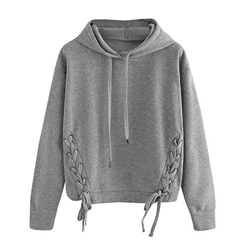 iHENGH Top Damen,Women Herbst LäSsige LangäRmeldrucker Bluse Blouse Shirts Sweatshirt T Shirt Pullover Crop Tops Damen Mode