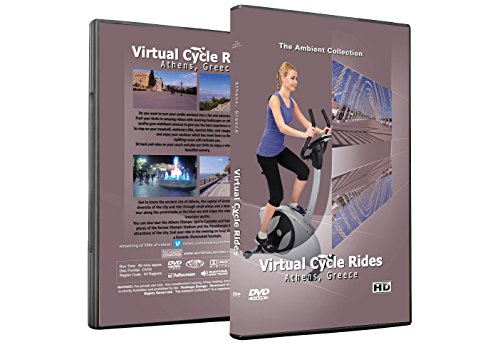 Virtual Cycle Rides DVD - Athens Greece - for Indoor Cycling, Treadmill and Exercise Workouts