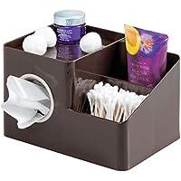 mDesign Organizador para baño y lavabo – Práctico organizador de accesorios para baños y cosméticos –