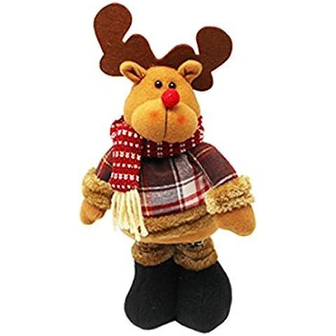 Telescópica Santa Claus Adornos de Navidad Escena Puntales muñecas de regalo Accesorios-Elk