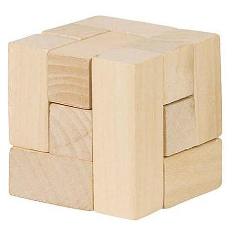 Goki - 2041701 - Puzzle En Bois - Cube Magique De Rubik - 7 Pièces