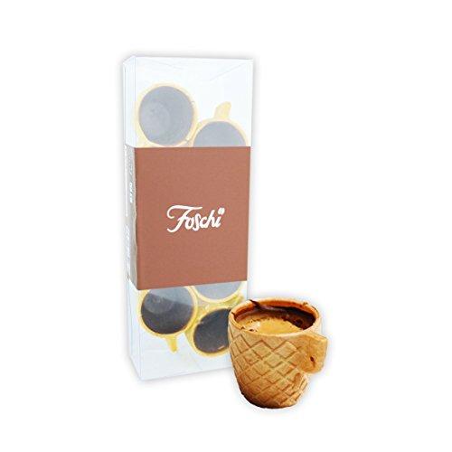 8 tazzine Foschi in wafer ricoperto di cioccolato fondente ottime con caffè e liquori