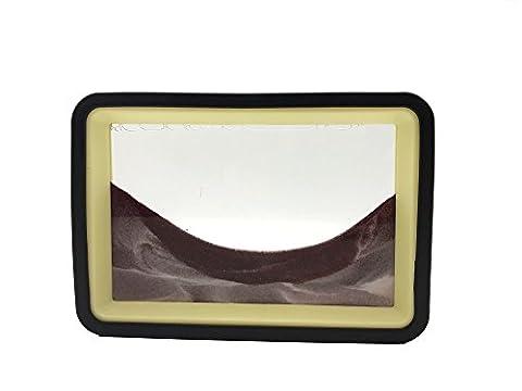 Deerbird® 3D Dynamic Desktop Kunst, Flüssigkeit Bewegung mit Safe Rot Sand Sanduhr für ein Weihnachten Geschenk Thanksgiving-Geschenk