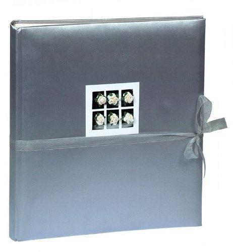 Enkel-foto-album (Fotoalbum Stoffbänder aus Stoff in grau - 60 Seiten - 29 x 32 cm)