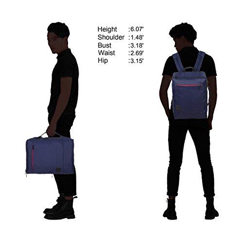 Imagen de veevan  para ordenador portátil de 15,6 pulgadas  de viaje para negocios o casual 18 litro azul marino 2  alternativa