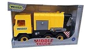 Tigres 32123 - Camión de Basura Central en Caja, Color Amarillo, Talla única