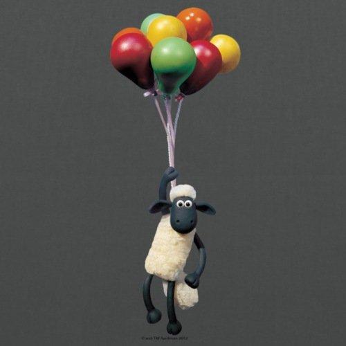 Spreadshirt Shaun das Schaf Mit Luftballons Stoffbeutel Graphite