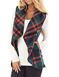 Women Ladies New Puffer Padded Reversible Tartan Hooded Sleeveless Gilet UK 8-16